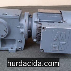 0.37 kW Konik Redüktör